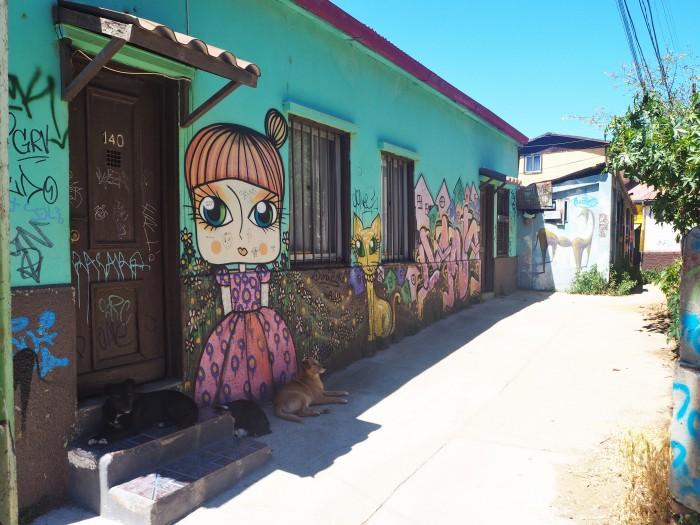 Street Art (et des chiens!) - Valparaiso