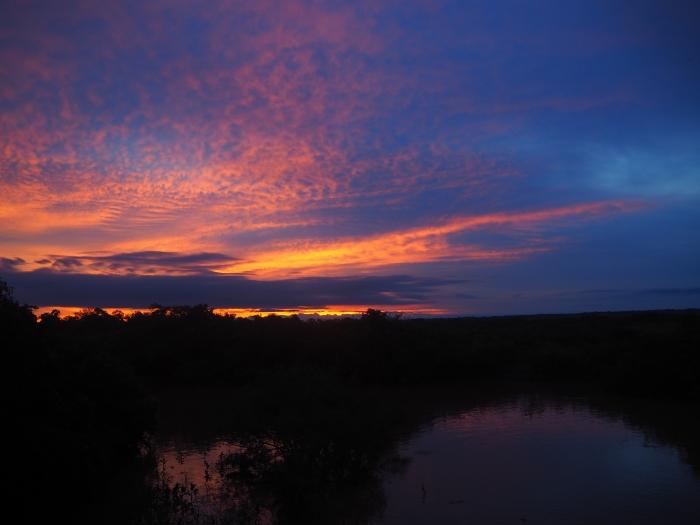 coucher de soleil - Amazonie