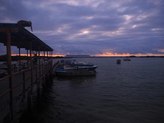 Lever de soleil sur Isabela