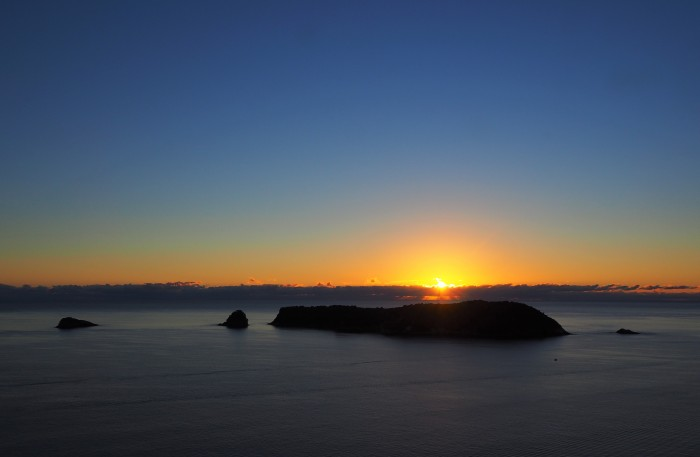 Coucher de soleil - Cathedral Cove