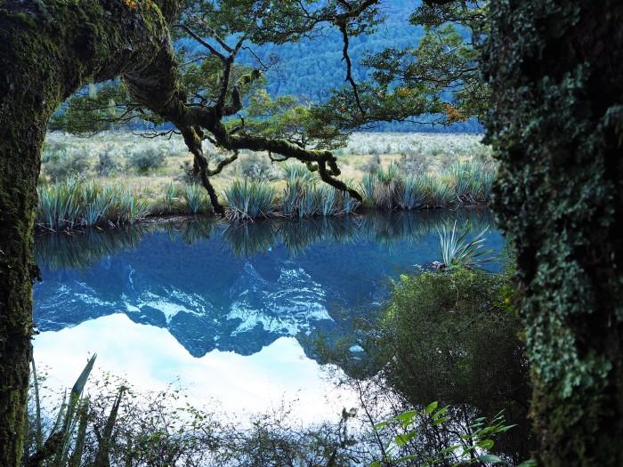 Ce lac s'appelle Mirror Lake. On se demande bien pourquoi